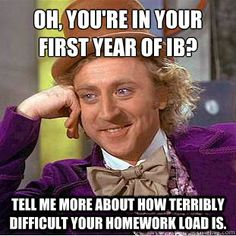 In General, how much homework do you get everyday in the IB diploma program?